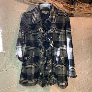 Buffalo Plaid Long Jacket